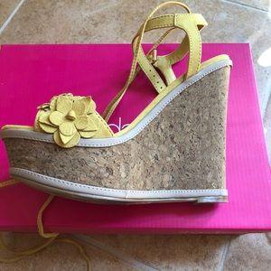 Platform yellow sandals